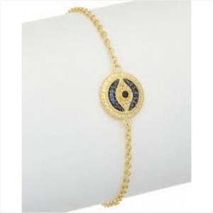 Judith-Ripka-Gold-Plated-Evil-Eye-Bracelet-with-Blue-Black-Sapphires
