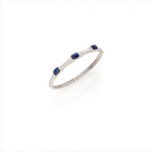 Judith-Ripka-Sterling-Silver-3-Stone-Bangle-Blue-Corundum